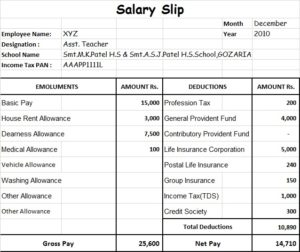 Wages Slip Format Template 14