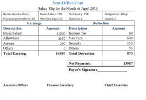 Salary Slip Sample