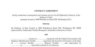 Electrical Contract Agreement Format