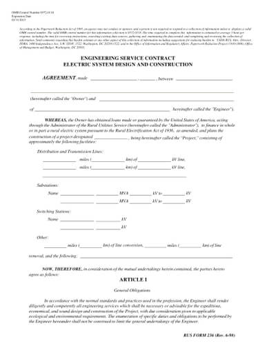 Engineering Service Contract: Electric System Design and Construction Agreement Template