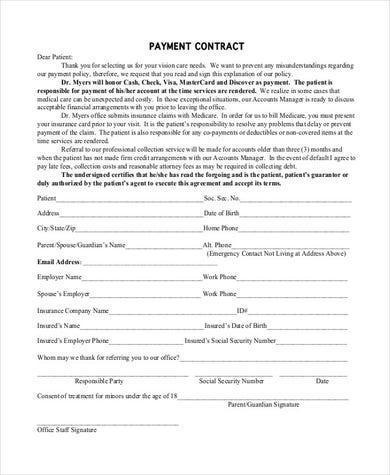 Simple Payment Agreement Template in PDF
